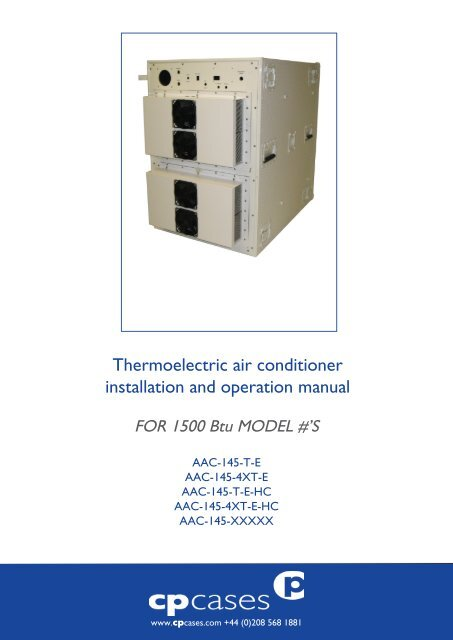 Thermoelectric air conditioner installation and operation     - CP Cases