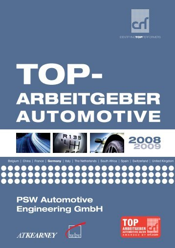 AUTOMOTIVE ARBEITGEBER - PSW automotive engineering GmbH