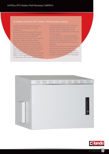 """19"""" SAFEbox IP55 Outdoor Wall Mounting CABINETs Pdf ... - LANDE"""