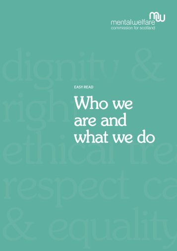 Easy read who we are and what we do (.pdf, 2KB) - Mental Welfare ...