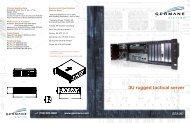 3U rugged tactical server - Germane Systems
