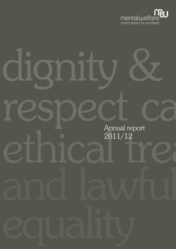 Annual report 2011/12 - Mental Welfare Commission for Scotland