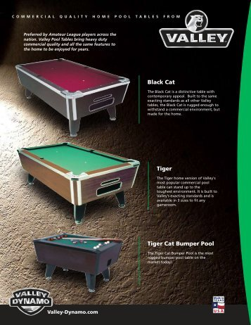 Black Cat Tiger Tiger Cat Bumper Pool - The Shaffer Distributing ...