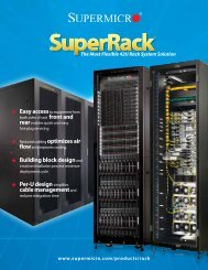 SuperRack Specifications - Supermicro