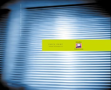 Check Point Software 1999 Annual Report