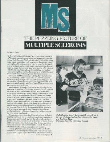 Multiple sclerosis - Patlak, Margie