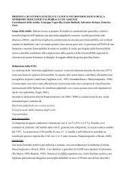 PROPOSTA DI STUDIO GENETICO E CLINICO ... - Lice
