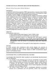 STUDIO LICE SULLE EPILESSIE MIOCLONICHE PROGRESSIVE ...