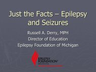 Just the Facts – Epilepsy and Seizures - Msetinfo.org