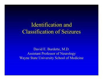 Identification and Classification of Seizures - Msetinfo.org