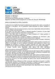LEGA ITALIANA CONTRO L' EPILESSIA - Lice