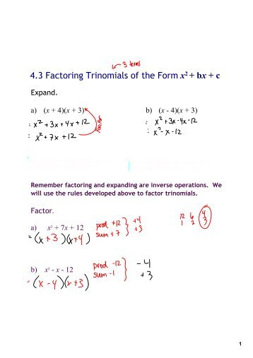 Worksheets Factoring X2 Bx C Worksheet factoring ax2 bx c worksheet rupsucks printables worksheets trinomials of the type x2 answers
