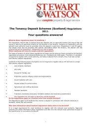 Rent Deposit Schemes Regulations - Stewart and Watson