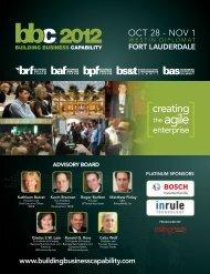 Platinum Sponsors - BPF   Business Process Forum