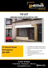 TO LET GROUND FLOOR OFFICE/RETAIL UNIT 11 ... - Caldes