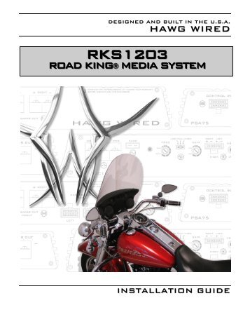 RKS1203 Road King Media System - Hawg Wired
