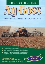 Ag-Boss Scarifier- Direct Drills Product Information - Fatcow.com.au