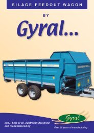 Gyral Implements Silage Feedout Wagons Product ... - Fatcow