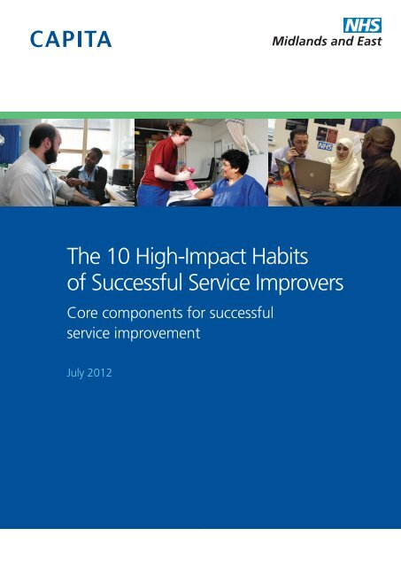 The 10 High-Impact Habits of Successful Service Improvers