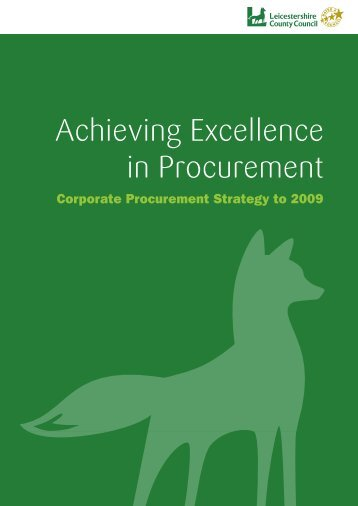 Achieving Excellence in Procurement - Leicestershire County Council