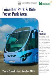 Leicester Park & Ride - Leicestershire County Council