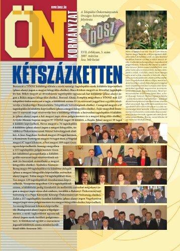 A Települési Önkormányzatok Országos Szövetségének ... - Töosz