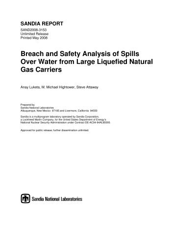 sandia report, may 2008 - Center for Liquefied Natural Gas
