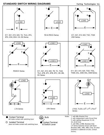 lp-series illuminated ind toggle switch wiring diagram series #12