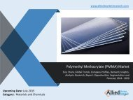 World Polymethyl Methacrylate (PMMA) Market Analysis, Demand, Growth, Opportunities and Forecasts, 2014 -2020