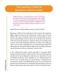 THE AGATHA CHRISTIE READING GROUP GUIDE - Waidev8.com