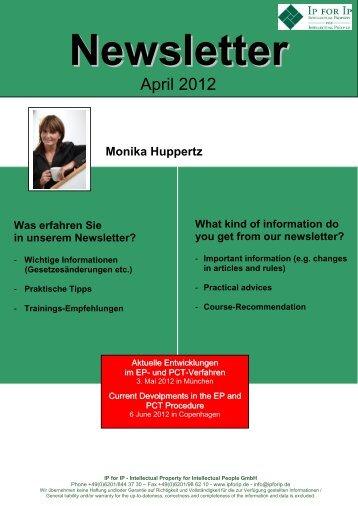 April 2012 - IP for IP