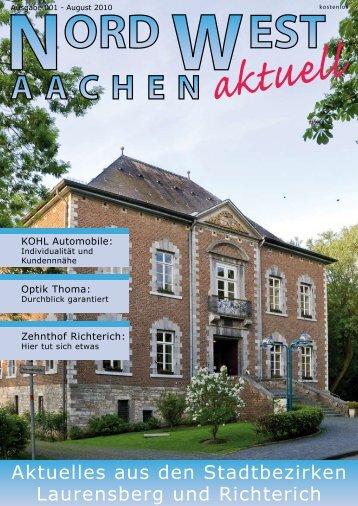 Aktuelles aus den Stadtbezirken Laurensberg und Richterich
