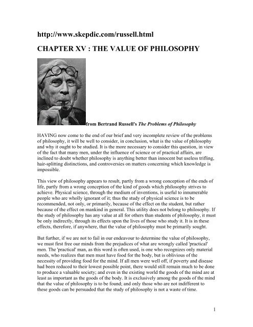 Bertrand russell the value of philosophy essay how to write a staffing plan