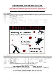 Zeiteinteilung Military Waldalgesheim