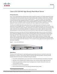 Cisco UCS C200 M2 High-Density Rack-Mount Server
