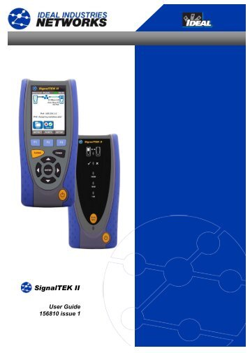 SignalTEK® II Manual.pdf - Ideal Industries Inc.