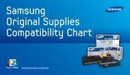 Samsung Original Supplies Compatibility Chart