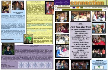 Student Connection Newsletter Issue 11 (January ... - Chatham Blogs