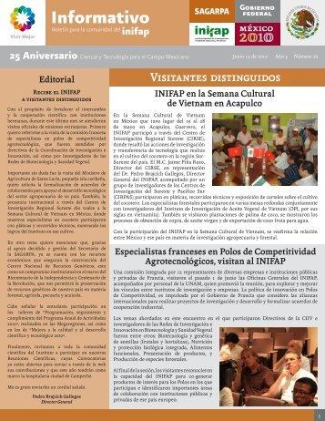 Boletín Informativo INIFAP # 26