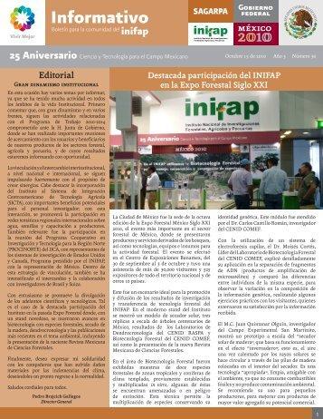 Boletín Informativo INIFAP # 30