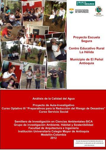 Análisis calidad del agua - Colegio Mayor de Antioquia