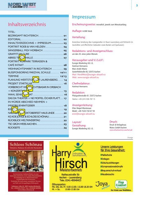 Laurensberg, Richterich und Horbach