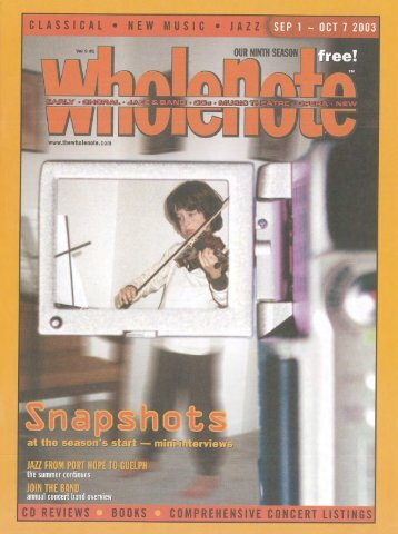 Volume 9 Issue 1 - September 2003