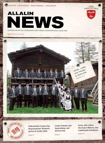 Allalin News Nr. 9 - SAAS-FEE | SAAS-GRUND | SAAS-ALMAGELL | SAAS-BALEN