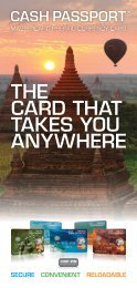 THE CARD THAT TAKES YOU ANYWHERE - Cash Passport