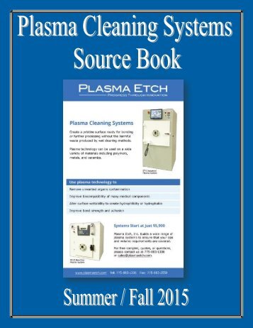 Plasma cleaning systems