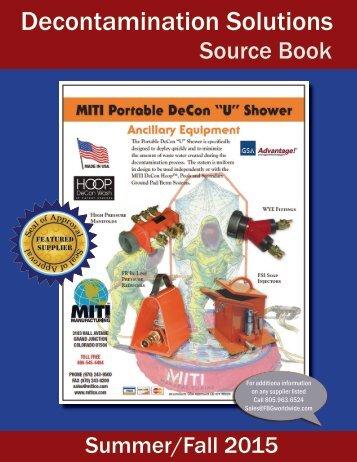 Decontamination Solutions Source Book