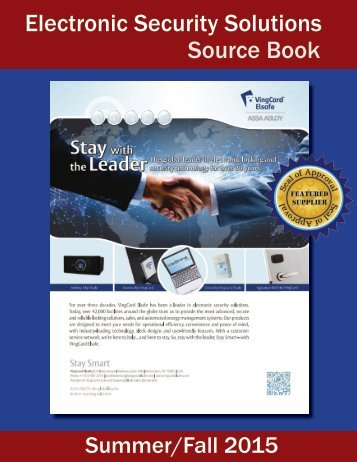 Electronic Security Solutions Source Book
