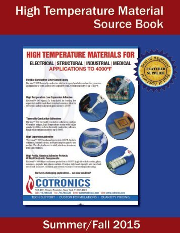 High Temperature Material Source Book