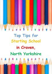 Top Tips for Starting School in Craven, North Yorkshire